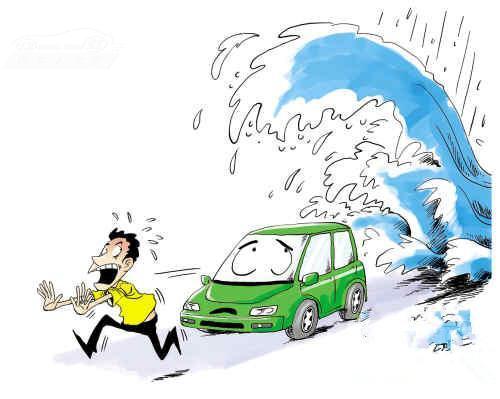 暴雨袭华南 电动汽车怕水遭考验_今日汽车新闻_12缸