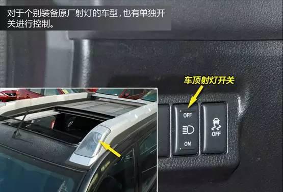 车内灯光按钮大全及图解